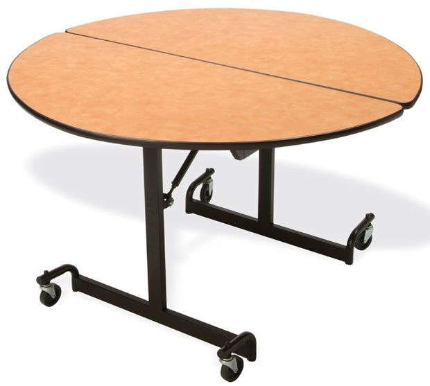 """Mitchell 48"""" Round Table with Nickel Chromium Legs: 27"""" Height"""