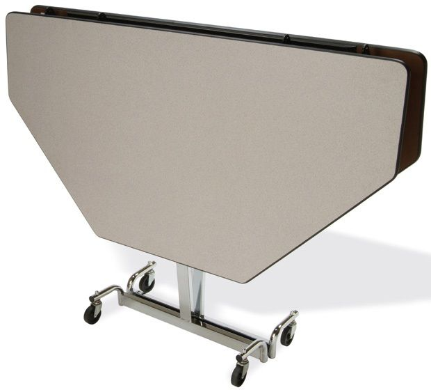 """Mitchell 60"""" Octagon Fold N Roll Adjustable Table with Chrome Legs: 22"""" to 29"""" Height"""