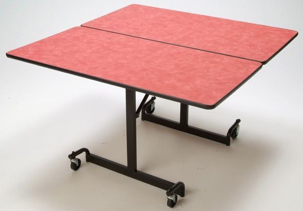 """Mitchell 48"""" Square Table with Nickel Chromium Legs: 29"""" Height"""