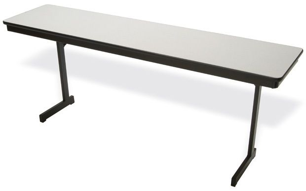 """Mitchell Cantilever Black Steel Legs with 3/4"""" Particle Board: 72"""" x 24"""", 29"""" Height"""