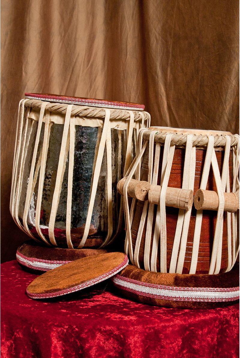 Banjira Jori Tabla Set, Brass Nickel Plated Dhamas And 5.75 Inch Tabla, D#