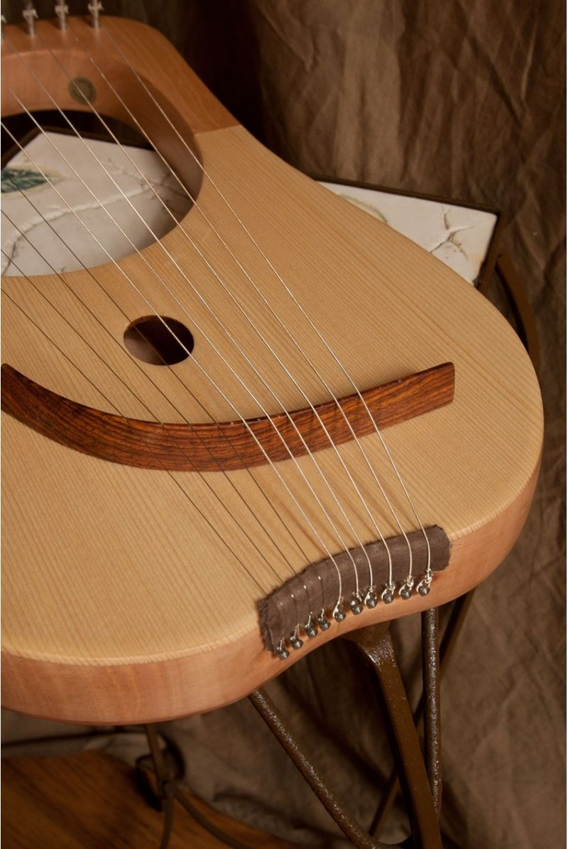 Mid-east Lyre Harp 10-string, Lacewood
