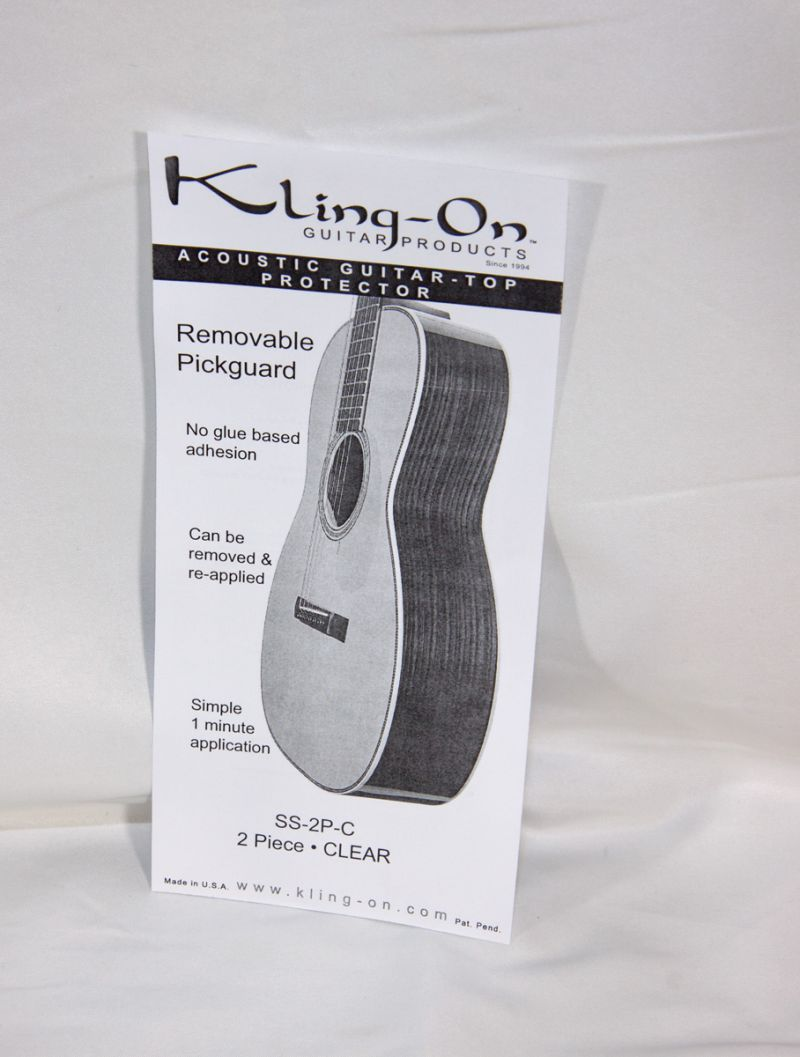 Kling-On Pickguard Clear Removable 2-Piece
