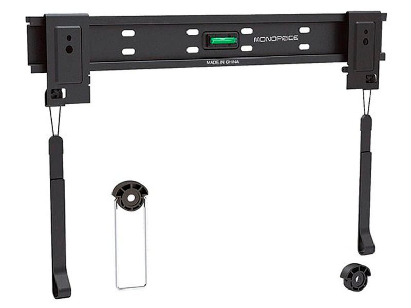 Monoprice Fixed Tv Wall Mount Bracket For Tvs 32in To 55in, Max Weight 110 Lbs, Vesa Patterns Up To 400x400, Works With Concrete And Brick, Ul Certified