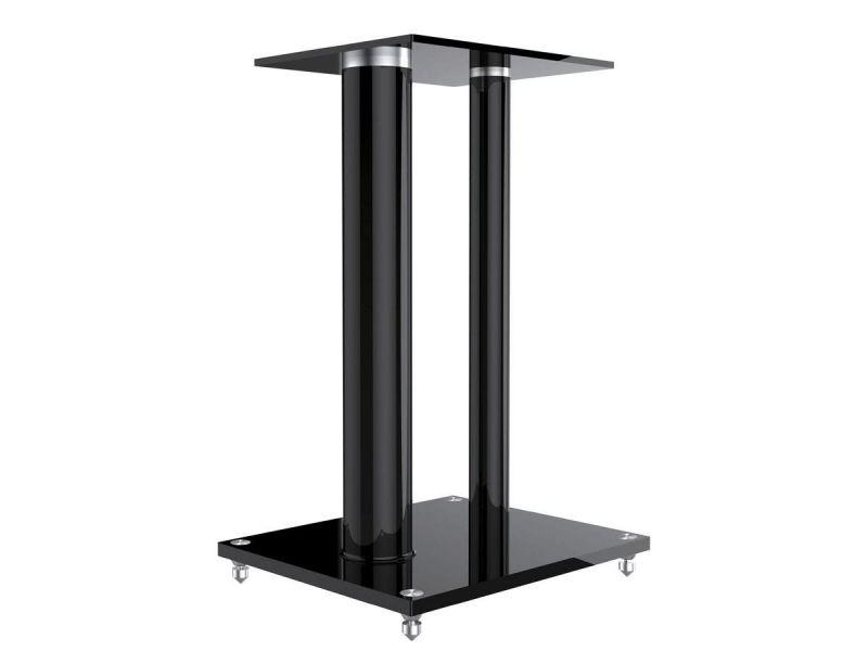 Monoprice Glass Floor Speaker Stands (pair), Black