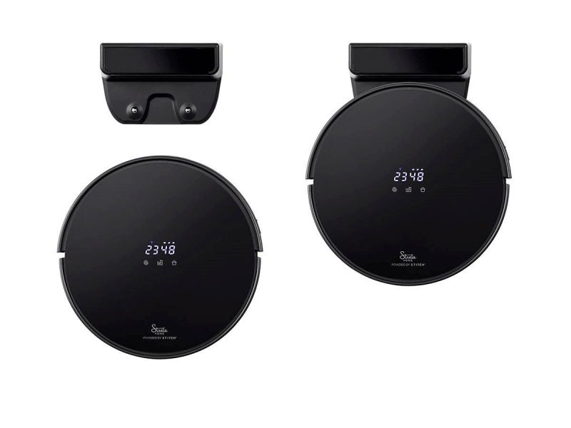 Strata Home By Monoprice Powered By Stitch Wireless Smart Robotic Vacuum With Mop, App Controlled And Navigation, Hard Floor/carpet, Works With Amazon Alexa, Google Home, No Hub Required, Black