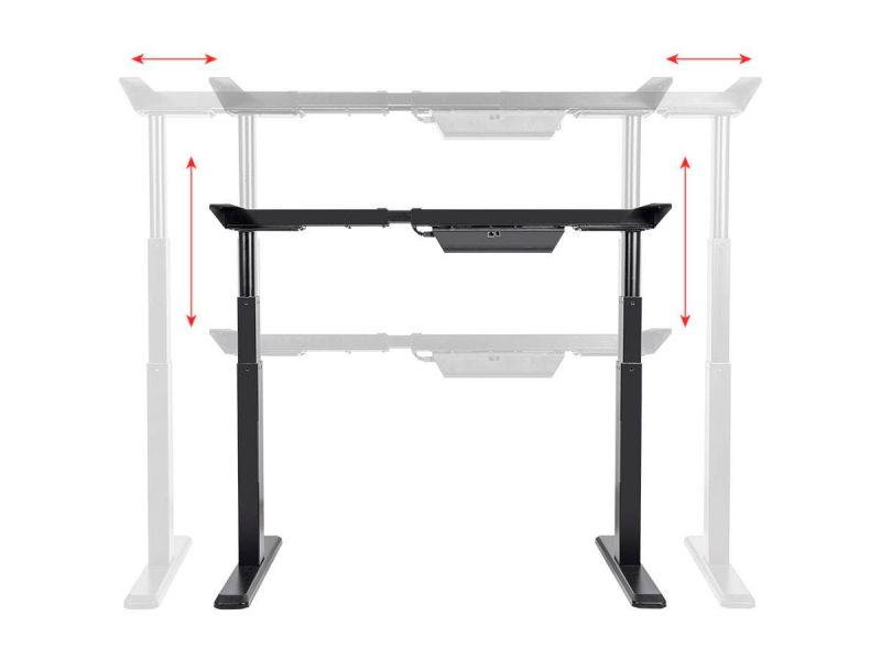 Workstream By Monoprice Sit-Stand Dual-Motor Height Adjustable Table Desk Frame, Electric, Black
