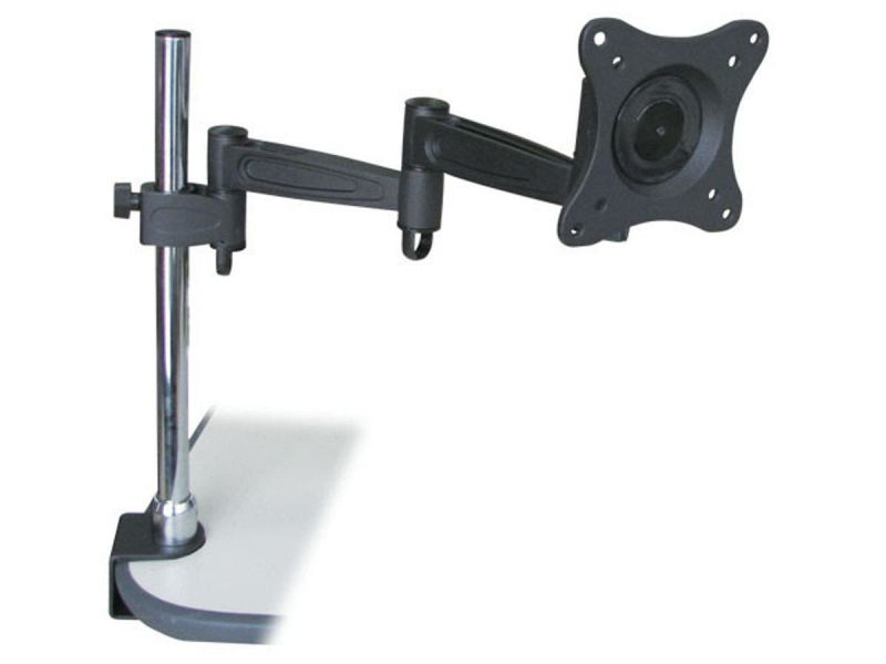 Monoprice Adjustable Tilting Desk Mount Bracket For 10~23 Inch Lcd Monitors Up To 33 Lbs, Black