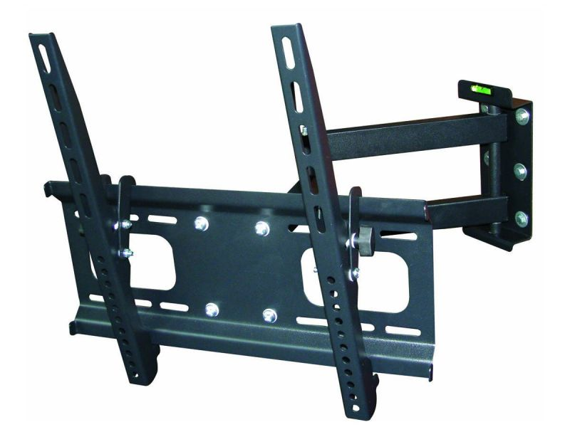 Monoprice Commercial Series Full-motion Articulating Tv Wall Mount Bracket For Tvs 32in To 55in, Max Weight 99lbs, Extension Range Of 3.7in To 20.1in, Vesa Patterns Up To 400x400, Concrete And Brick