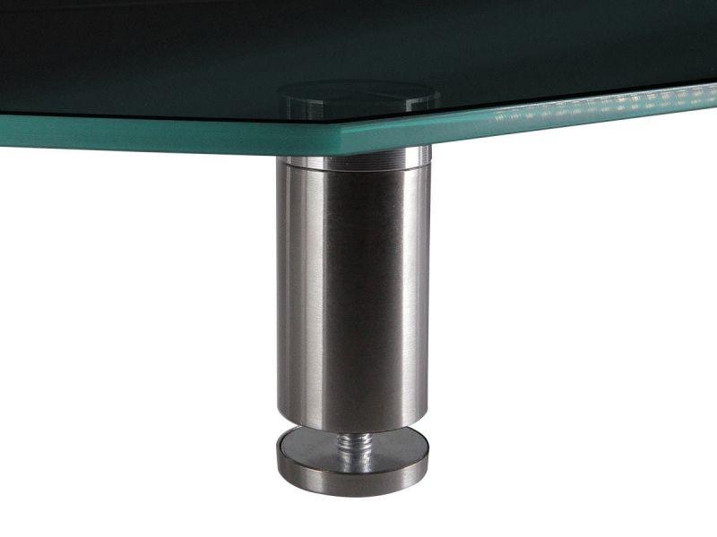 Workstream By Monoprice Medium Multimedia Desktop Monitor Stand, Black Glass