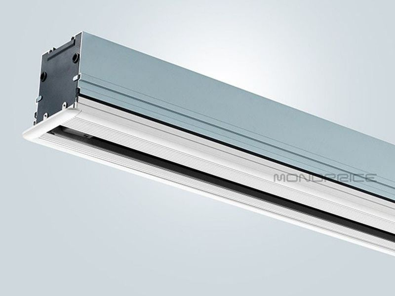 Mono-Inch 16:9 Hd White Fabric Ceiling-Recessed Tab-Tensioned Motorized Projection Screen-Refurbished