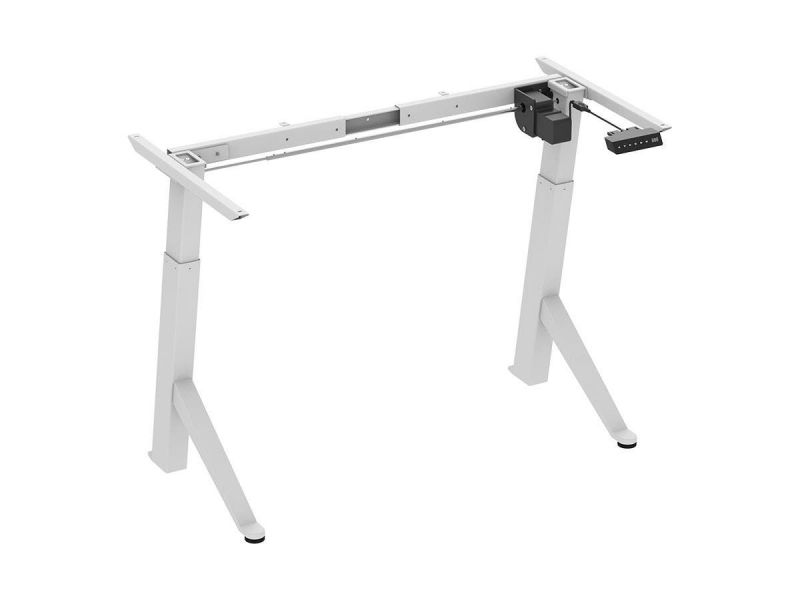 Workstream By Monoprice Single Motor Angled Sit-stand Desk Frame With Built-in Casters