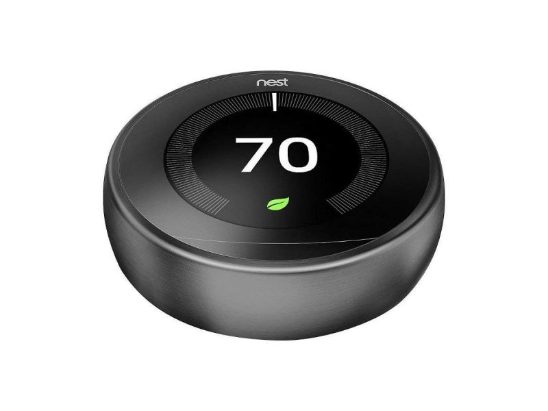 Nest T3016us Uslearning Thermostat 3Rd Generation In Black , Compatible With Alexa