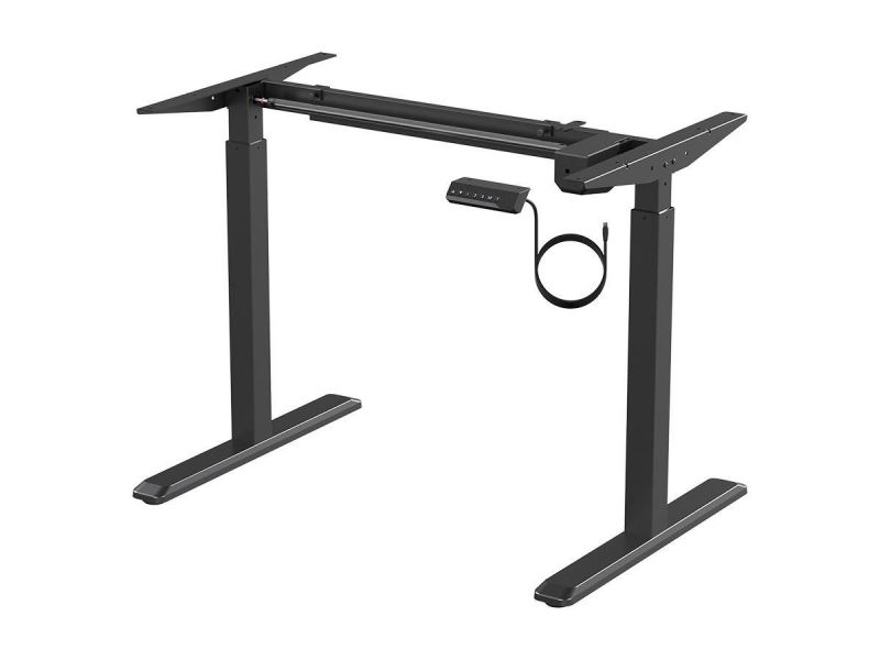 Workstream By Monoprice Sit-Stand Single Motor Height Adjustable Table Desk Frame, Electric, Black