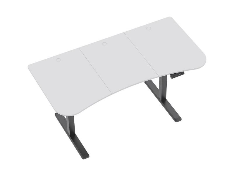 Workstream By Mono-piece Desktop For Motorized And Manual-crank Height Adjustable Desks, White
