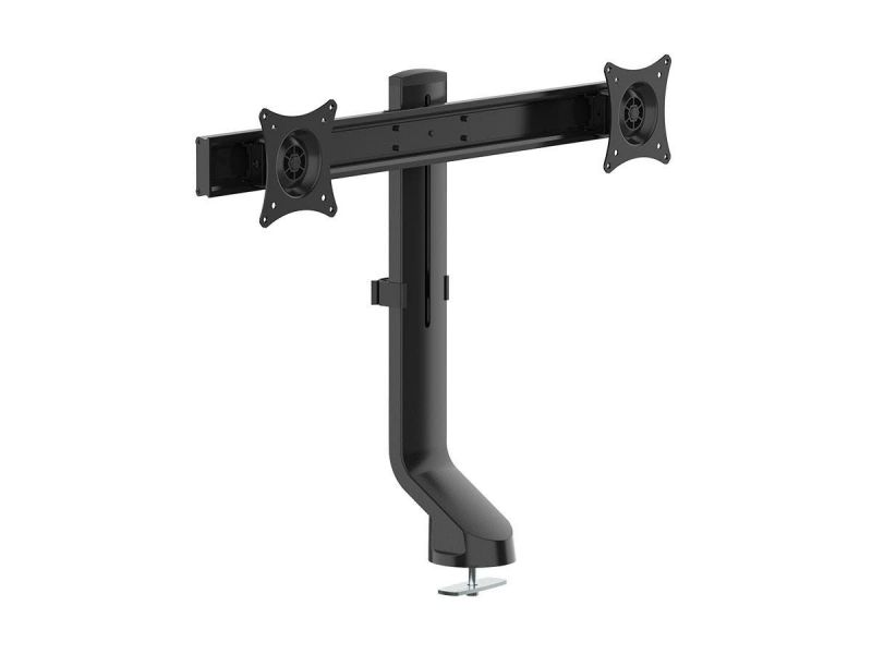 """Workstream By Monoprice Dual Monitor Low Profile Flat-Clamp Mount For Screens Up To 27"""""""