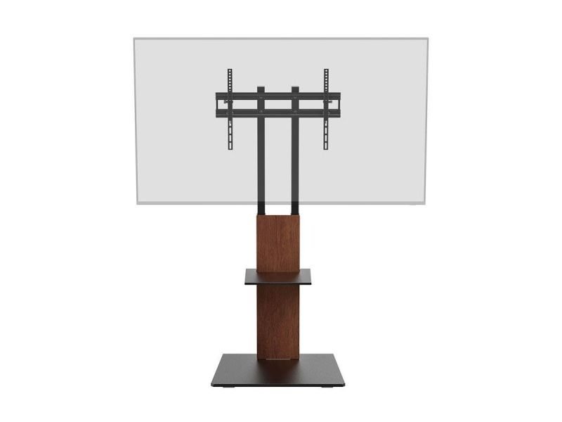 Monoprice Commercial Series Tv Mount & Stand With Component Shelf For Led Displays 37in To 70in, Max Weight 88lbs., Vesa Patterns Up To 600x400, Brown