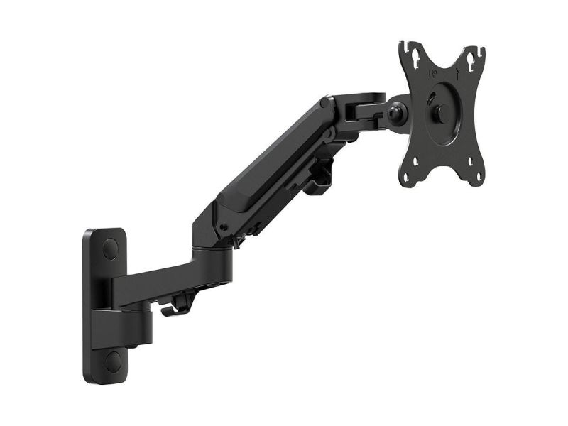 """Workstream By Monoprice Adjustable Gas Spring 2-segment Wall Mount For Monitors Up To 27"""""""
