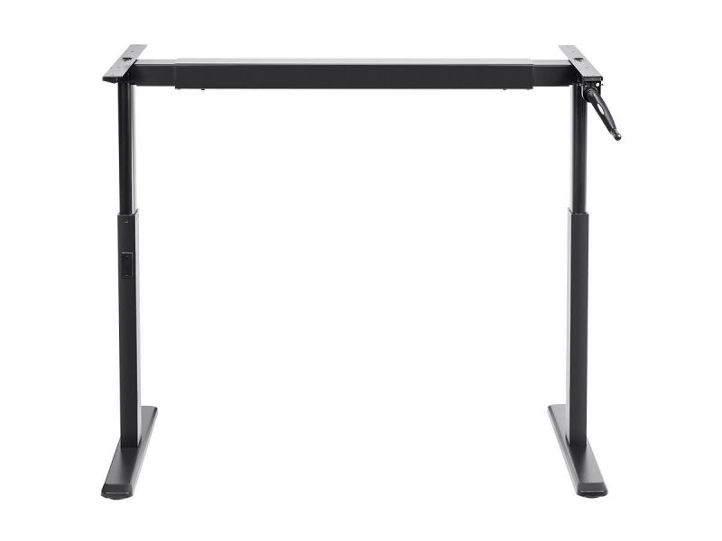 Workstream By Monoprice Sit-stand Height Adjustable Table Desk Frame Workstation, Manual Crank