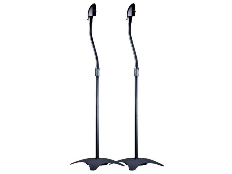 Monoprice Adjustable Height 5 Lb. Capacity Speaker Stands (pair), Black