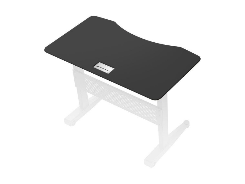 Workstream By Monoprice Height Adjustable Gas-lift Sit-stand Desk Top, 4ft Black