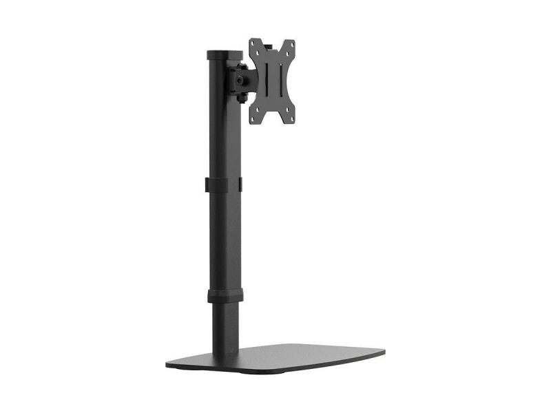 """Workstream By Monoprice Easy Height-Adjustable Free Standing Single Monitor Desk Mount For Monitors Up To 27"""""""