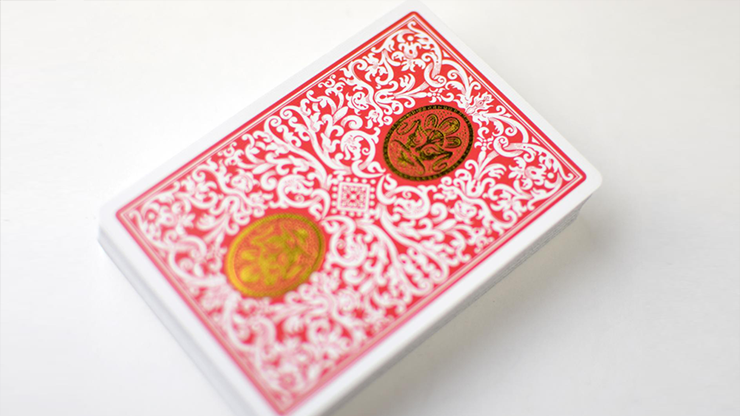 Royal Zen (red/gold) Playing Cards By Expert Playing Cards