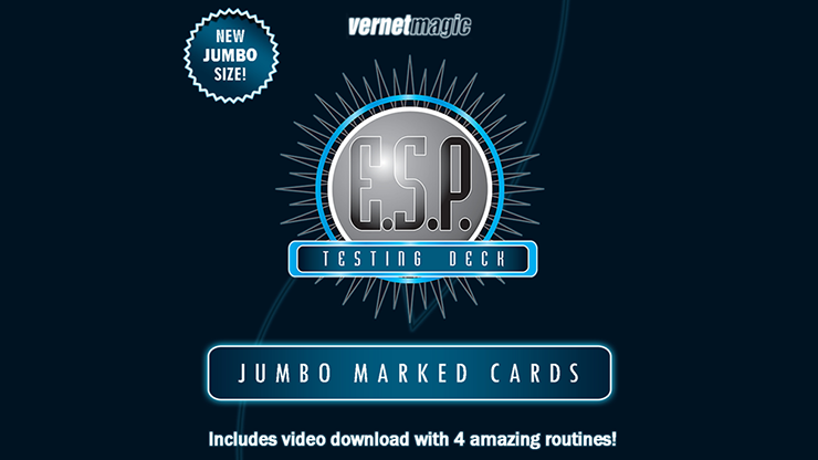 E.S.P. Jumbo Testing Cards (Gimmicks And Online Instructions) By Vernet Magic - Trick
