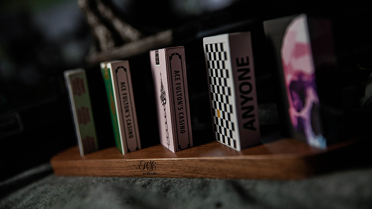 Wooden Sideways Playing Card Display Batten (Five Decks) By Tcc