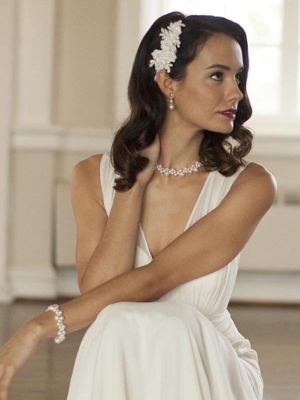 Crystal & Pearl Bubbles Bridal Necklace