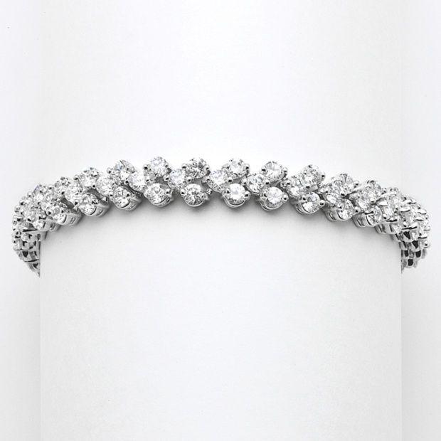 Petite Length Cubic Zirconia Wedding Or Prom Tennis Bracelet