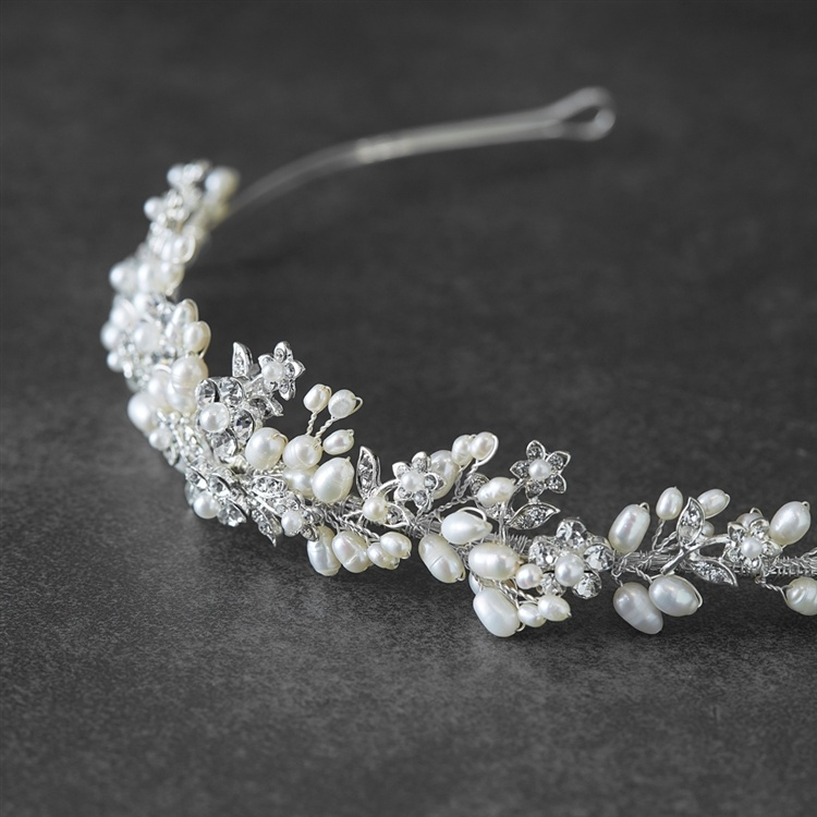 Bridal Tiara With Freshwater Clusters