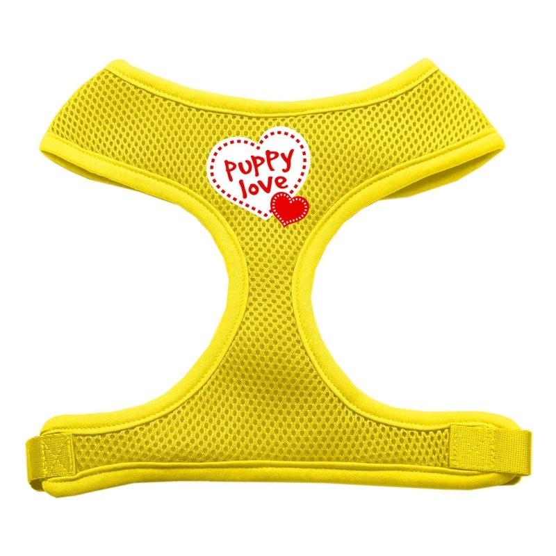 Puppy Love Soft Mesh Pet Harness Yellow Small
