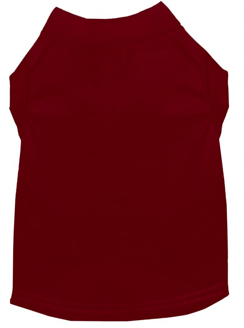 Plain Pet Shirts Maroon 6x