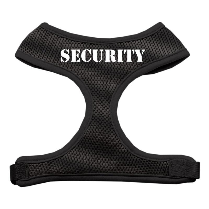 Security Design Soft Mesh Pet Harness Black Medium