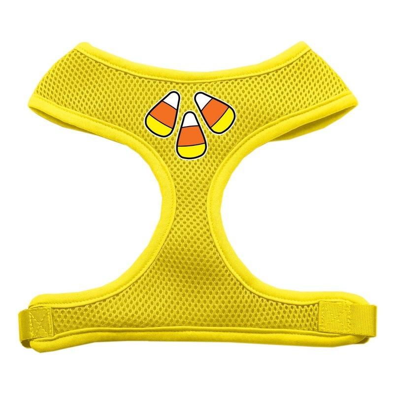 Candy Corn Design Soft Mesh Pet Harness Yellow Small
