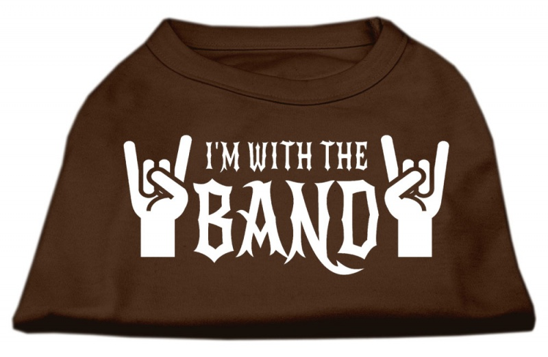 With The Band Screen Print Shirt Brown Xxl