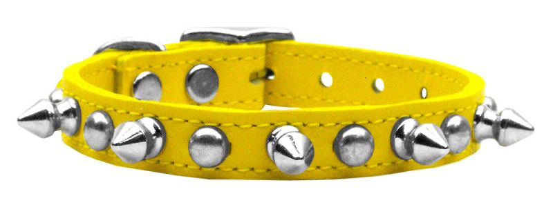 Chaser Leather Dog Collar Yellow 16