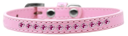 Bright Pink Crystal Size 12 Light Pink Puppy Collar
