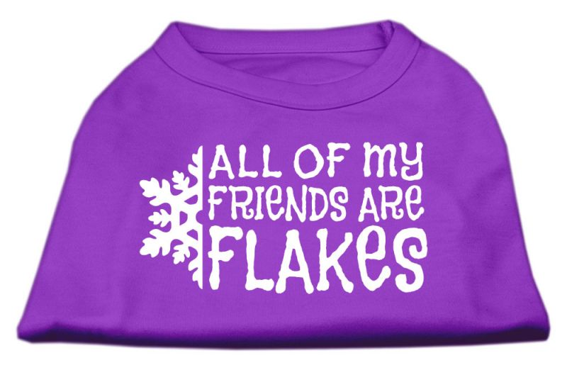 All My Friends Are Flakes Screen Print Shirt Purple S