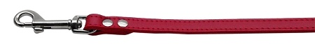 Fashionable Leather Dog Leash Red 1/2'' Wide