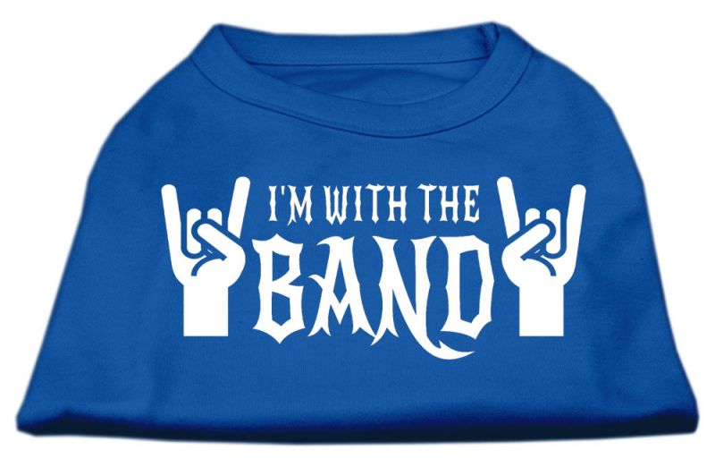 With The Band Screen Print Shirt Blue Xxl