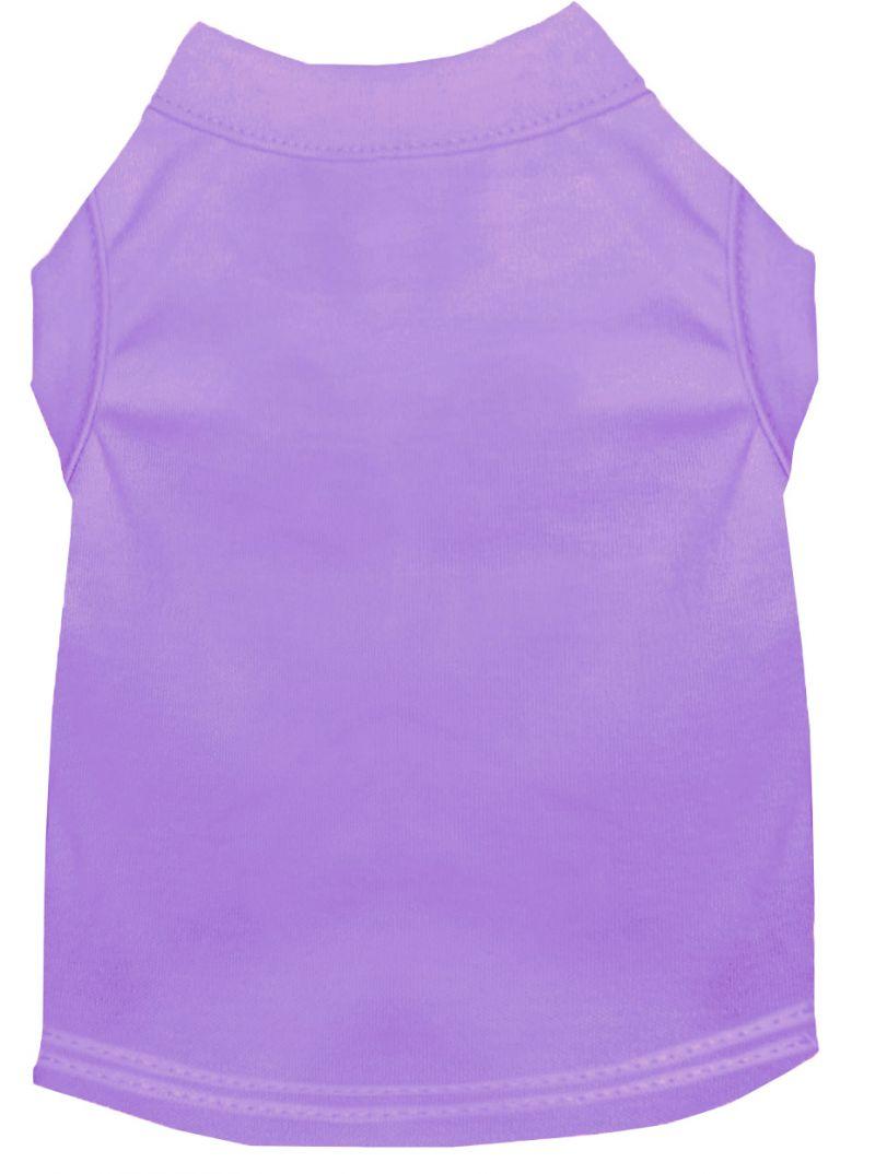 Plain Pet Shirts Lavender Sm