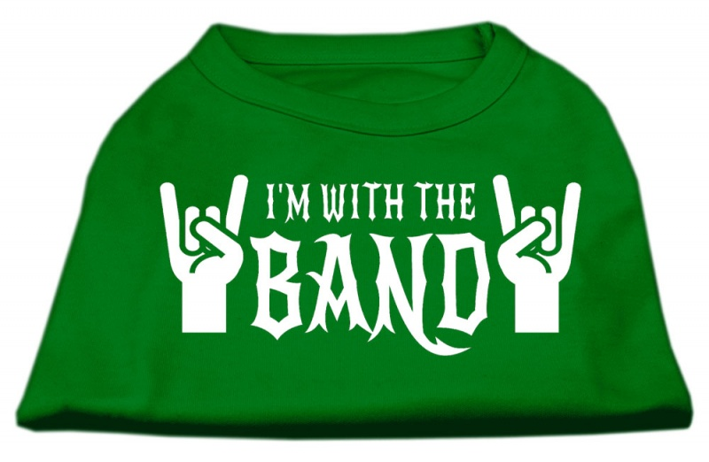 With The Band Screen Print Shirt Green Xl