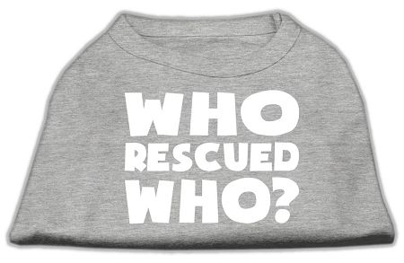 Who Rescued Who Screen Print Shirt Grey Xs