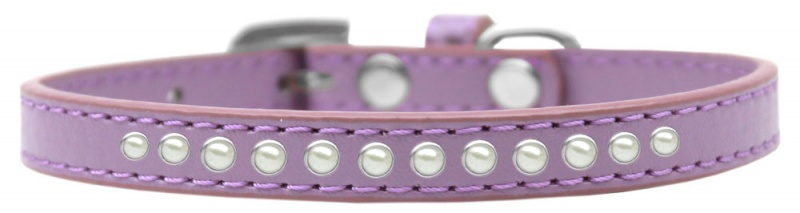 Pearl Size 14 Lavender Puppy Collar