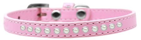 Pearl Size 14 Light Pink Puppy Collar