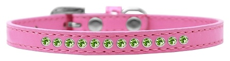 Lime Green Crystal Size 16 Bright Pink Puppy Collar