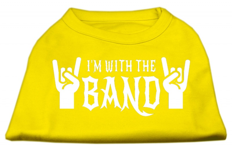 With The Band Screen Print Shirt Yellow Xxxl