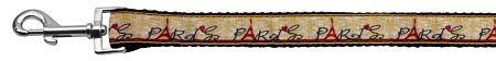 With Love From Paris Ribbon Dog Collars 1 Wide 6Ft Leash